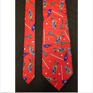 Papell Red Golf Tie